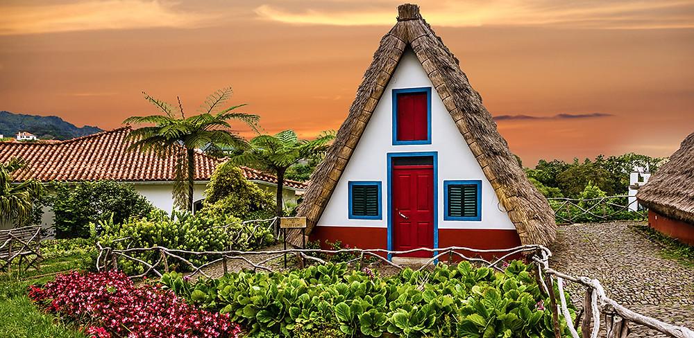 Traditional house in Santana, Madeira