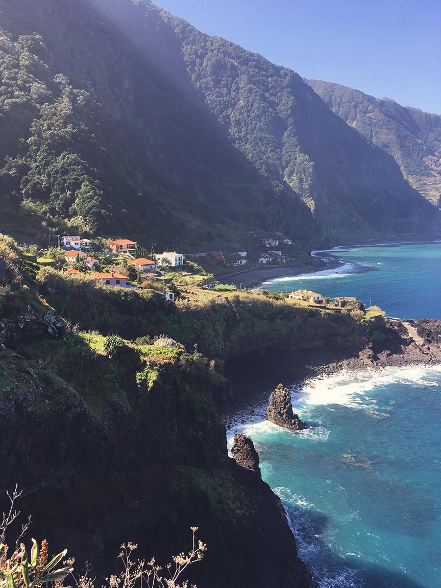 Madeira rocky cliffs