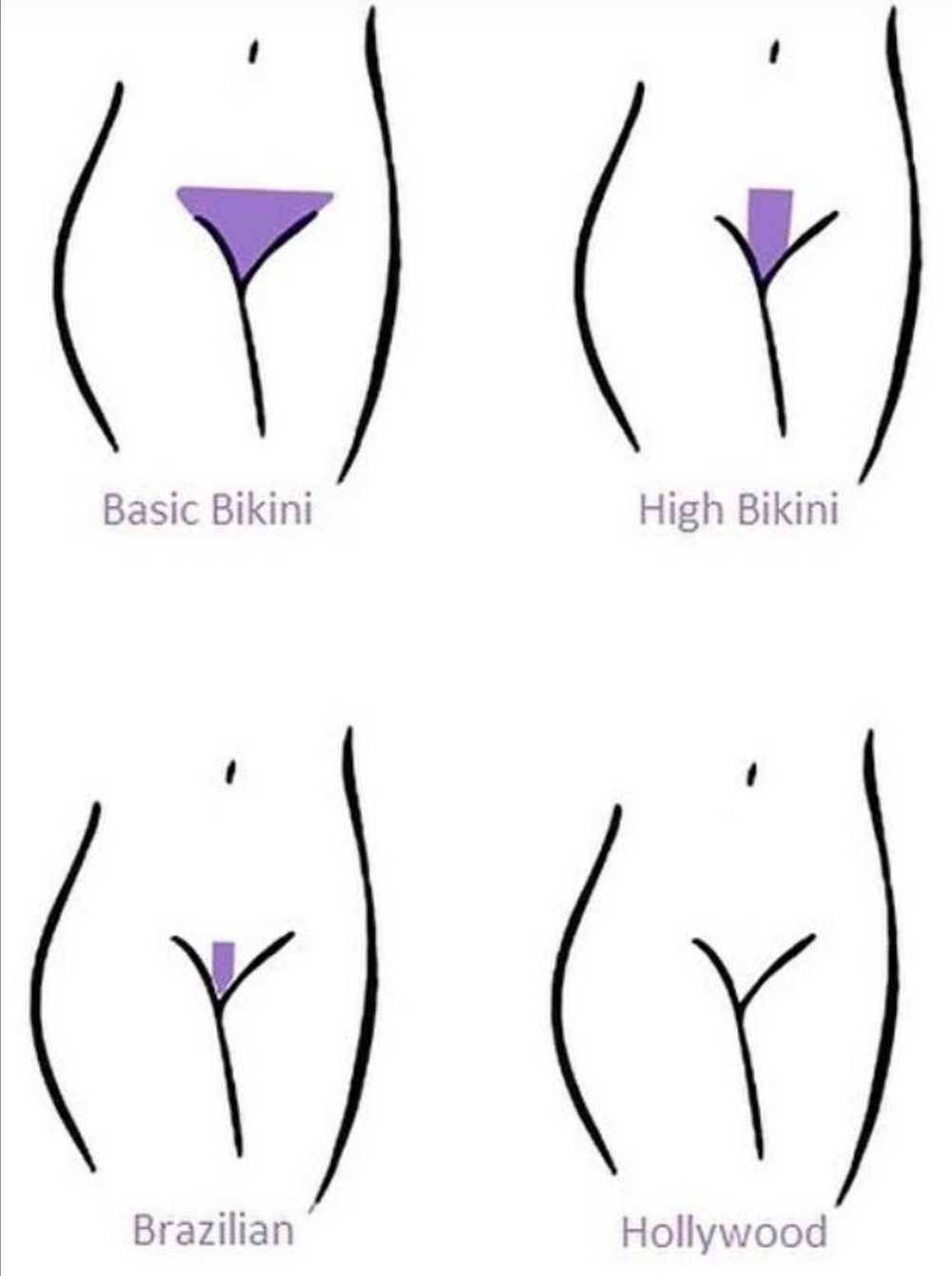 Different waxing styles to expect from Cherry Boxx