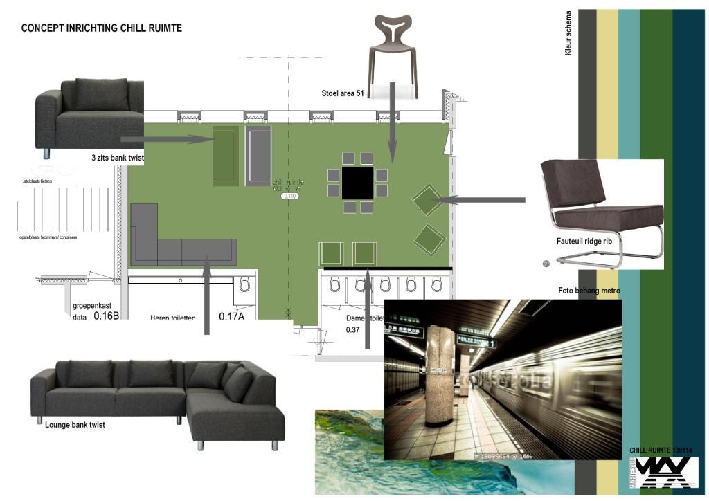 ontwerp nieuwe chillruimte