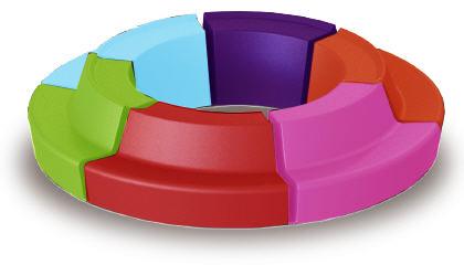 """zitelement """"roundabout"""" kleur mundus"""