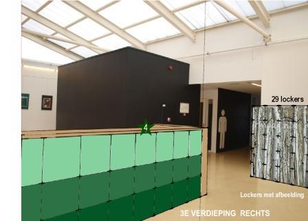 ontwerp lockers 3e verdieping