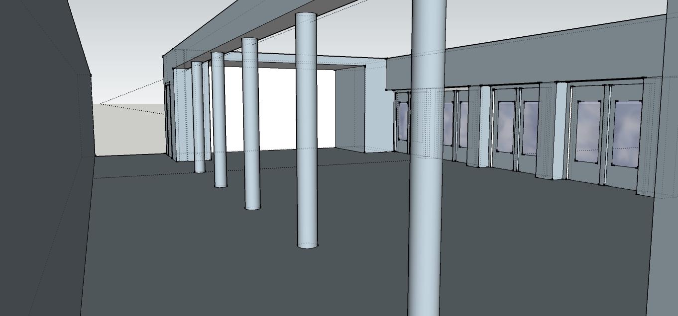3D rendering bestaande situatie