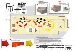ontwerp nieuwe inrichting aula