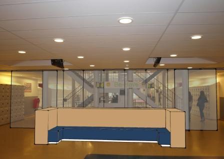 ontwerp nieuwe glazen scheidingspui