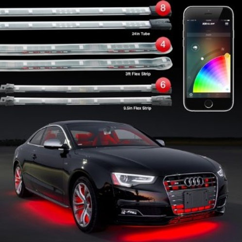 XK Glow Advanced App Controlled LED Lighting CHRM SERIES RED