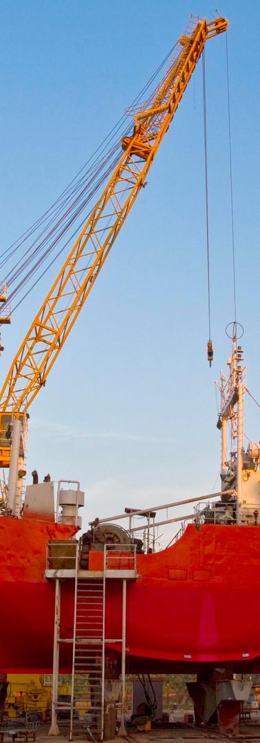 Morgends auf der Goa-Shipyard
