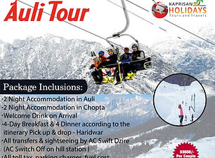 Auli tour Uttarakhand with Kaprisan Holi