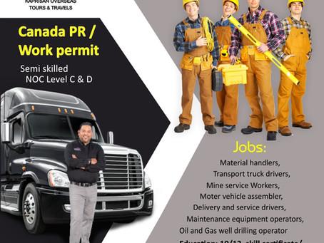 Canada Work Permit for Semi-Skilled