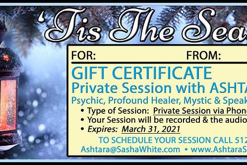 'TIS THE SEASON Gift Certificate - 1hr Phone Session