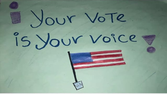 """Nicky says, """"Vote for Education"""" (in English and Spanish)"""