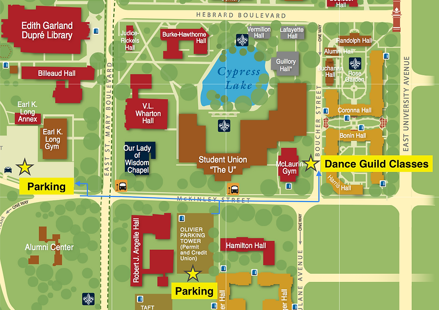 University Of Louisiana At Lafayette Campus Map.Dgul Contact Us