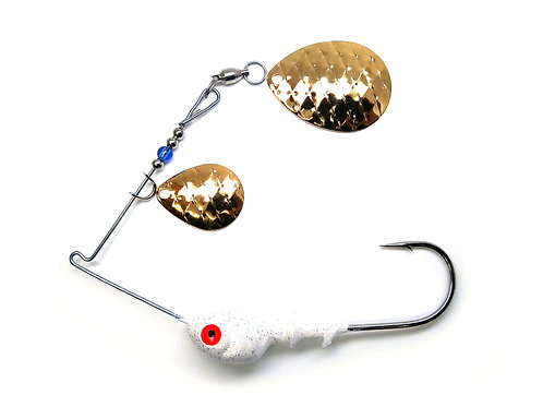 Spinnerbait Colorado Gold Scale Blades