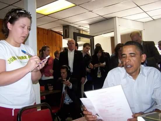 Jodie Clarkson and Barack Obama