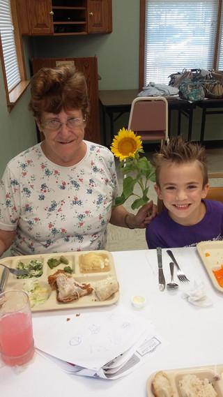 Margaret Thewlis and grandson Nicholas