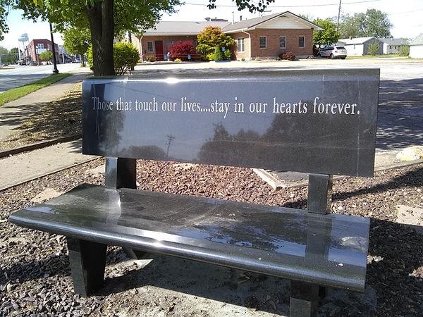 Monroe City Nutrition Center Memorial Bench