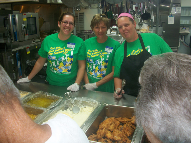 Day of Caring Serving Line Debra Buchana