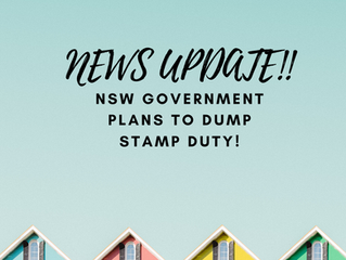 NSW Government plans to dump stamp duty!
