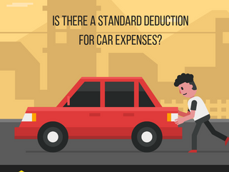 Is there a standard deduction for car expenses?