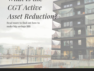 What is the CGT Active Asset Reduction?