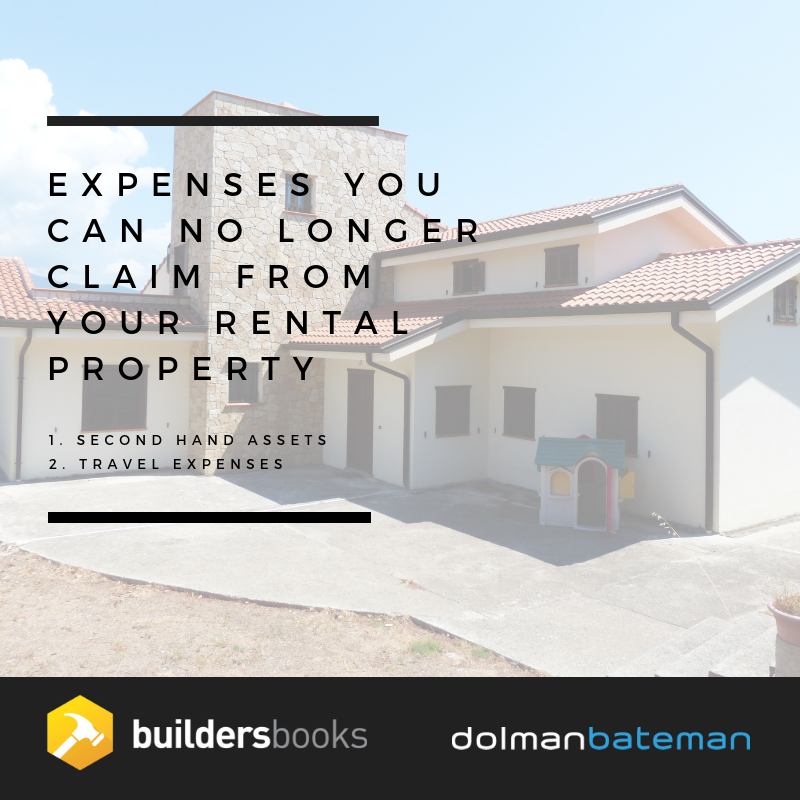Expenses you can no longer claim from your rental property