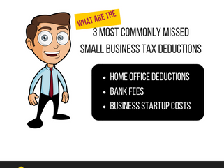 3 Most commonly missed small business Tax Deductions