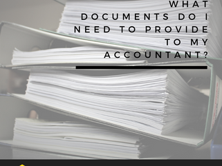What documents do I need to provide to my accountant?
