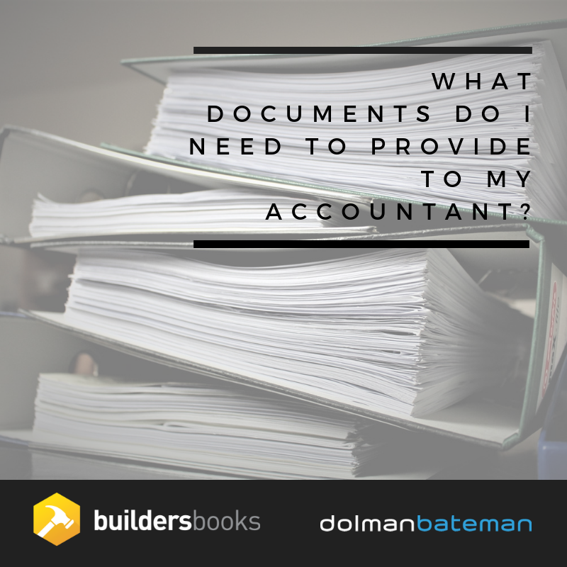 what documents do i need to provide to my accountant