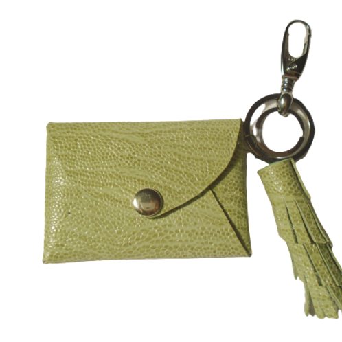Green Lime - Small Leather Wallet