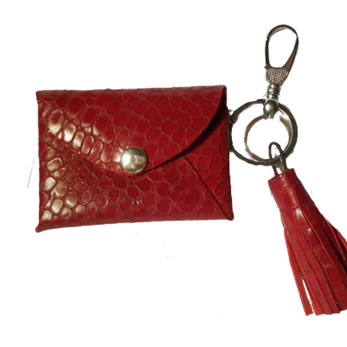 Wild Red Lips - Small Leather Wallet