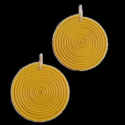Lemon Lollipops Leather Earrings