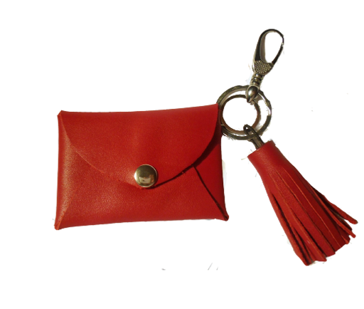 Red Lips - Small Leather Wallet
