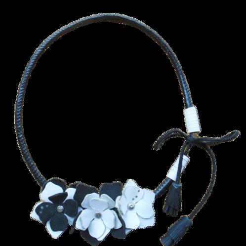Delicate Jasmine - Leather Necklace