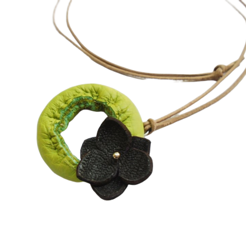 Desert Rose Leather Necklace
