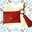 Thumbnail: Red Lips - Small Leather Wallet