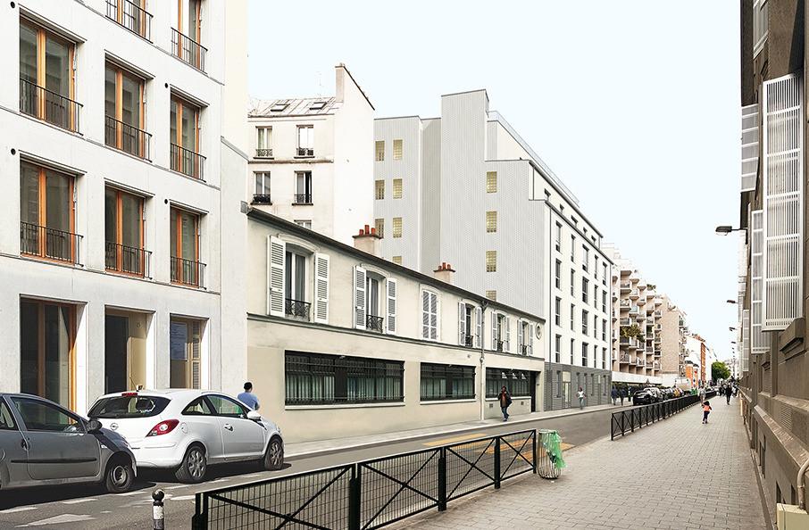 vue rue Pajol