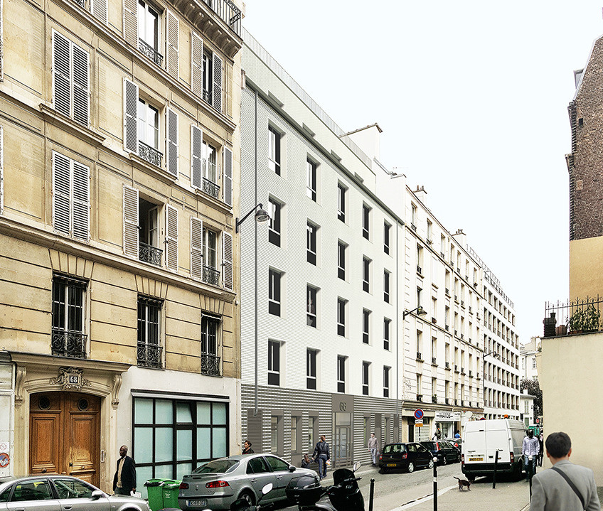 vue rue Philippe de Girard
