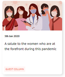 A salute to the women who are at the forefront during this pandemic