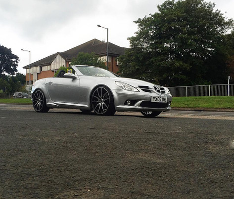 "Mercedes SLK fitted with 20"" Mania Mayfairs"