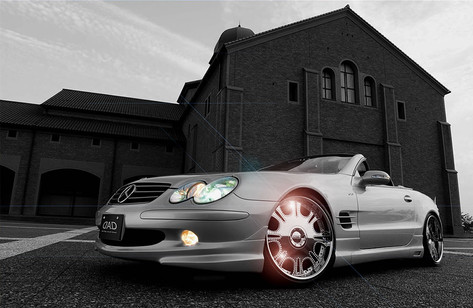"Mercedes Sl R230 Fitted With 20""garson jewel"