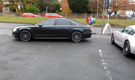 Audi A8 fitted with 22 INCH Wolfrace GTP