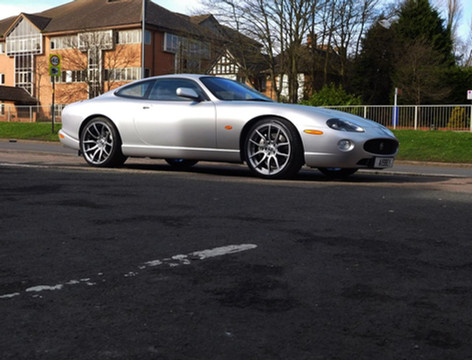 "Jag XK8 Fitted With 20"" Mayfairs"