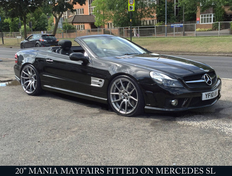 "MERC SL Fitted With 20"" MAYFAIR"