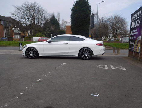 "Mercedes C Class coupe fitted with 20"" Mayfairs"