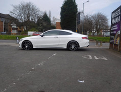 """Mercedes C Class coupe fitted with 20"""" Mayfairs"""