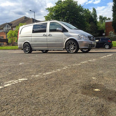 """Mercedes Vito Fitted With 20"""" Mania Mayfairs"""