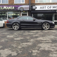 """Mercedes SL Fitted With 20"""" Team Dynamics Silverstones"""