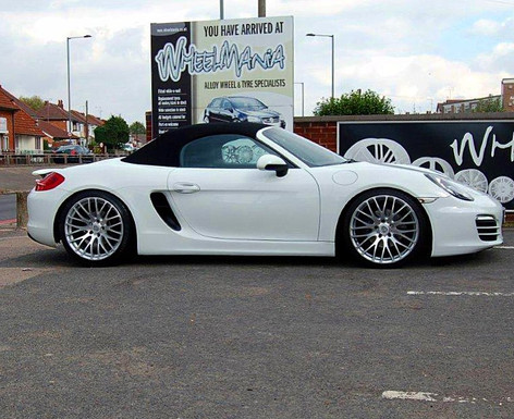 "Porsche Boxster fitted with 20"" Calibre Altus"