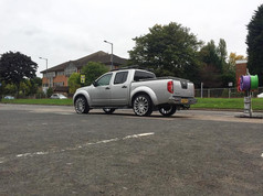 """Nissan Navara fitted with 22"""" Wolfrace Renaissance"""