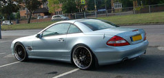 """MERC SL Fitted With 20"""" RADISSON"""